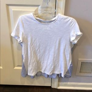 Kate Spade tee shirt with striped back and ruffles